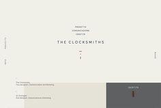 Minimalist web design example: The Clocksmiths