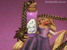 Tangled (Rapunzel), I See The Light Magic Necklace with a Sun Charm Bronze, Disney Inspired, by Life is the Bubbles