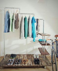 Exklusive Vintage-Garderobe im Industrie-Stil von some... furniture auf DaWanda.com