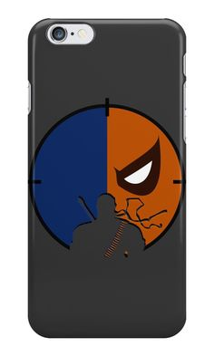 """Deathstroke Minimalist Art"" iPhone Cases & Skins by adesigngeek 