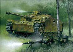 StuG 40 Ausf. G con mantelete tipo Saukopf de la 12.ª Panzerdivision en acciónen Curlandia, fines de 1944. Jaroslaw Wróbel. http://www.elgrancapitan.org/foro/viewtopic.php?f=12&t=17519&start=11280#p891176