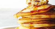 Buttermilk pancakes with whipped honeycomb butter main image Crepes And Waffles, Christmas Breakfast, Christmas Lunch, Christmas 2015, Buttermilk Pancakes, Butter Recipe, Yummy Eats, Tray Bakes, Breakfast Recipes