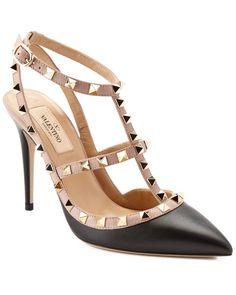 80419dcc9af Valentino Rockstud Leather Ankle Strap High-Heeled Sandal is on Rue. Shop  it now