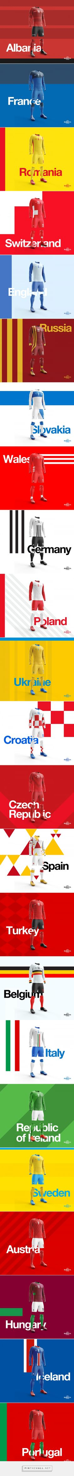 UEFA EURO 2016 // Retro Kit Collection by ∆ Studio—JQ ∆