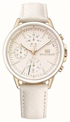 395ac56ae19135 Tommy Hilfiger Lds Rose Gold With Pink Stp