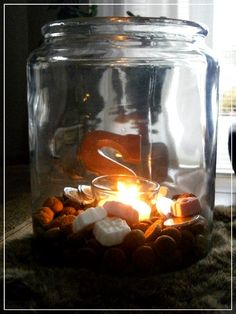 tealight in a jar