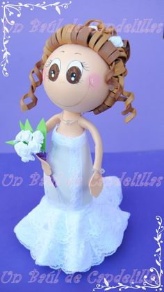 #Fofucha novia en goma EVA. #Fofuchas personalizadas #handmade