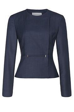 Hugo Boss: Jasoni | Stretch Virgin Wool Cotton Blend Jacket, Patterned