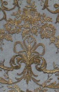 Historical fashion inspiration | www.myLusciousLife.com - Fine blue and gold antique fabric velvet