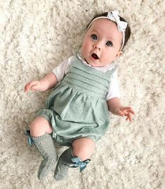 """Marlowe Blake Jarrett 👑 on Instagram: """"Green again! 🍃🌿 Marlowe's learning to copy sounds and noises we do to her, her versions of it are so funny! Trying to do piggy makes us…"""" Cute Babies, Baby Kids, Kids Dress Up, Tummy Time, Little Princess, Kids Outfits, Baby Outfits, Baby Photos, Foto E Video"""