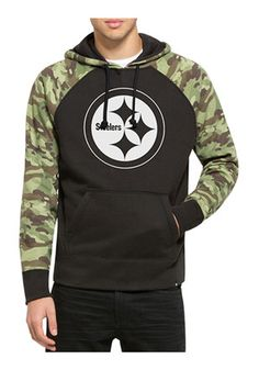 '47 Pitt Steelers Mens Alpha Hood Black Fashion Hood
