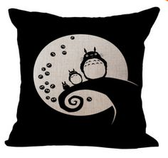 Totoro Pattern Pillow Bed big Cushion 45X45cm without filling