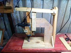 Homemade drill press with throttle. Sanding drum and belt coming soon