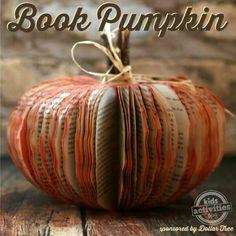 Pumpkin made out of a book.