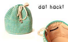 Häkel-Tasche // Crochet-bag by dat hackt via DaWanda.com