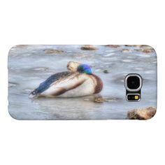 Winter Mallard Wildlife Bird-lover Duck design Samsung Galaxy S6 Case