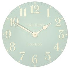 Hand painted resin mantel clock in a beautiful duck egg blue.