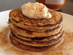 Cinnamon Butternut Squash Pancakes