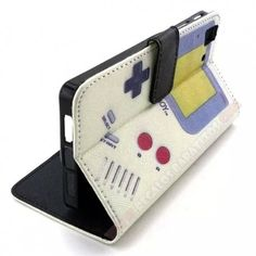 Funda piel cartera divertida diseño GameBoy para smartphone Aquaris E5 4G