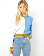 ASOS Color Block Sweater In Stitch