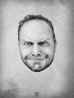 Bill Burr Portrait by Ari Bennett, via Behance