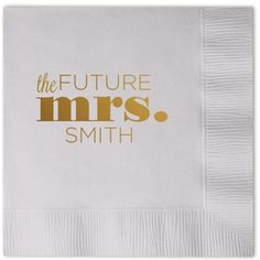 future mrs personalized bridal shower napkins bridalshower personalizednapkins wedding beforetheidos http