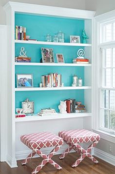 """2016 Paint Color Ideas for your Home """"Benjamin Moore Peacock Blue""""  Cory Connor Designs."""