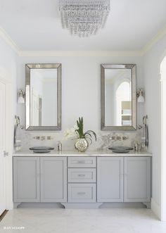 Gray vanity. #bathroom #design