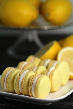 Lemon Macarons This Lemon Macaron Recipe is a masterpiece – and with it you too can make French Meringues worthy of any bakery! I'm sharing all the tips and tricks you need to make gorgeous lemon cookies successfully. Lemon Macaron Recipe, Macron Recipe, Lemon Macarons, Macaron Cookies, Lemon Cookies, Cookie Recipes, Dessert Recipes, Desserts, Dessert Ideas