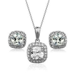Yoursfs 18k White Gold Plated Wedding Jewelry Sets Use Shining Cubic Zirconia Cz…