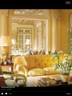 Love yellow sofa