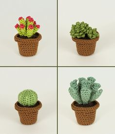 Succulent Collections 1 and 2: EIGHT crochet patterns
