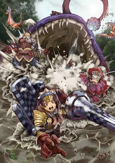 Hunters Vs. Gobul - Monster Hunter Tri