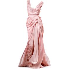 Satinee's collection - Elie Saab ❤ liked on Polyvore featuring dresses, gowns, long dress, pink, elie saab gowns, pink evening gowns, long dresses, pink evening dress y pink ball gown