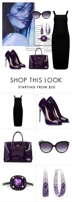 """""""Pinafore by"""" by mel-c-n ❤ liked on Polyvore featuring Prada, Tom Ford, polyvorecontest, pinafores and 60secondstyle"""