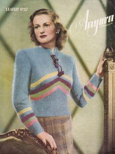 1930s Fashion, Vintage Fashion, Fashion Women, Vintage Patterns, Knitting Patterns, Vintage Knitting, Knit Crochet, Crotchet, Vintage Ladies