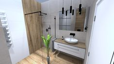 Praca konkursowa z wykorzystaniem mebli łazienkowych z kolekcji FUTURIS #naszemeblenaszapasja #elitameble #meblełazienkowe #elita #meble #łazienka #łazienkaZElita2019 #konkurs Double Vanity, Bathroom, Home, Design, Washroom, Bathrooms, Haus, Homes, Houses