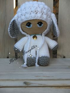 "Big Head ""Lambie"" Doll crocheted by Flora's Daughter Creates/crochet/Amigurumi"