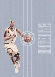 NBA Cards2Posters by Hadi Alaeddin, via Behance