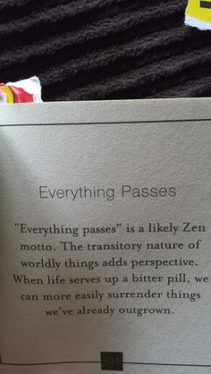Everything passes