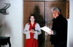 Carmen Maura and Pedro Almodovar on-set of Volver (2006)
