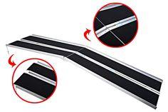 10' Wheelchair Ramps Portable Scooter Ramp Aluminum Folding Threshold Non slip  #eVirtualdeals