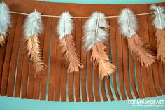 Hello again! My name is Corinna and I'm a contributor here on the All Things With Purpose blog. On my blog, For My Love Of, you can find first time homeownership stories, crafts, home decor, and styling posts. Today, I'd like to share with you all a perfect garland for Fall: Copper Dipped Feather Banner. This garland is really easy to whip up, and you may even have most of