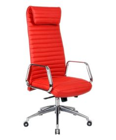 Red Ox High Back Leather Office Chair