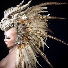 READY TO SHIP Dragon Warrior feather door PoshFairytaleCouture