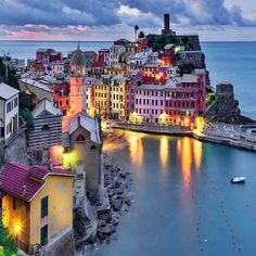 Blue hour at Vernazza, Italy. Photo by @sassychris1