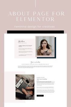 This about page layout is made using the free Elementor Page Builder plugin for WordPress. You can add your own branding, copywriting, photography, and other elements like colors and fonts. Page Template, Website Template, Layout Template, Wordpress Theme, Wordpress Admin, Wordpress Plugins, Webdesign Inspiration, Layout Inspiration, Editorial Design
