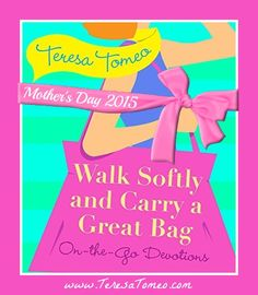 """The perfect gift for Mom this Mother's Day: """"Walk Softly & Carry a Great Bag"""" by @TeresaTomeo from @FranciscanMedia. Inspirational AND stylish and fits perfectly in most bags!"""