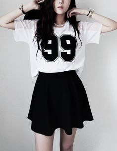 Ideas For Moda Coreana Juvenil Kawaii Korea Fashion, Kpop Fashion, Cute Fashion, Asian Fashion, Teen Fashion, Fashion Outfits, Style Fashion, Fashion Black, Fashion Ideas