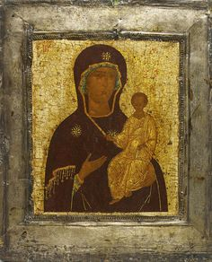 Hodegetria Mother of God also known as the Virgin of Smolensk- exhibited at the Temple Gallery, specialists in Russian icons